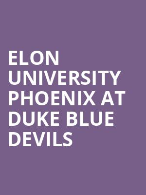 Elon University Phoenix at Duke Blue Devils at Wallace Wade Stadium
