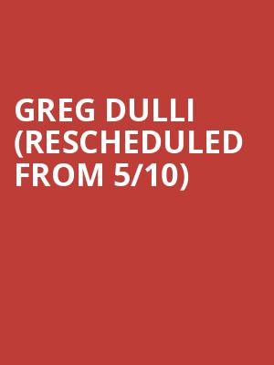 Greg Dulli (Rescheduled from 5/10) at Cat's Cradle
