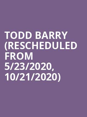 Todd Barry (Rescheduled from 5/23/2020, 10/21/2020) at Motorco Music Hall