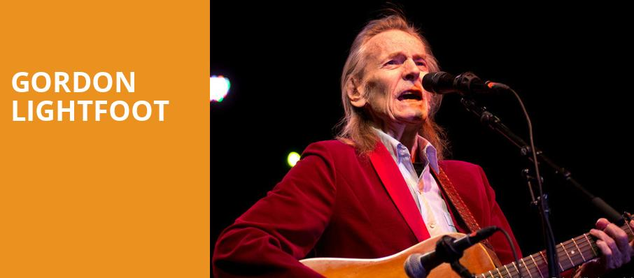 Gordon Lightfoot, Carolina Theatre Fletcher Hall, Durham