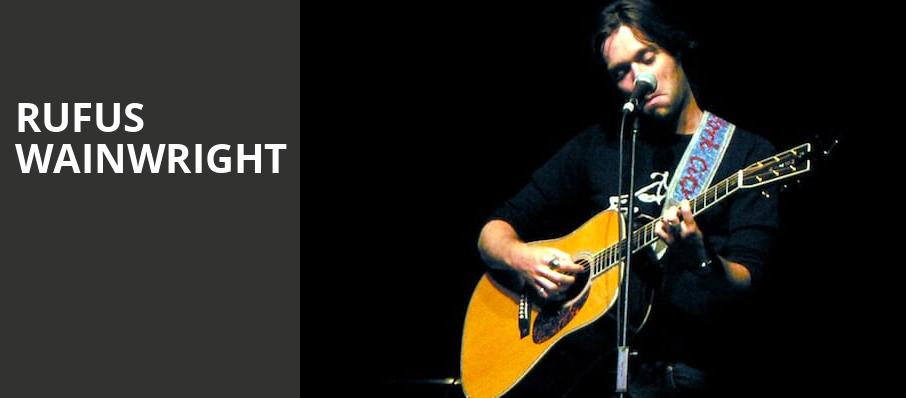 Rufus Wainwright, Carolina Theatre Fletcher Hall, Durham