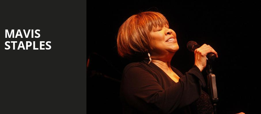 Mavis Staples, Carolina Theatre Fletcher Hall, Durham
